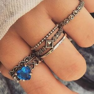 6 Piece Bohemian Ring Set